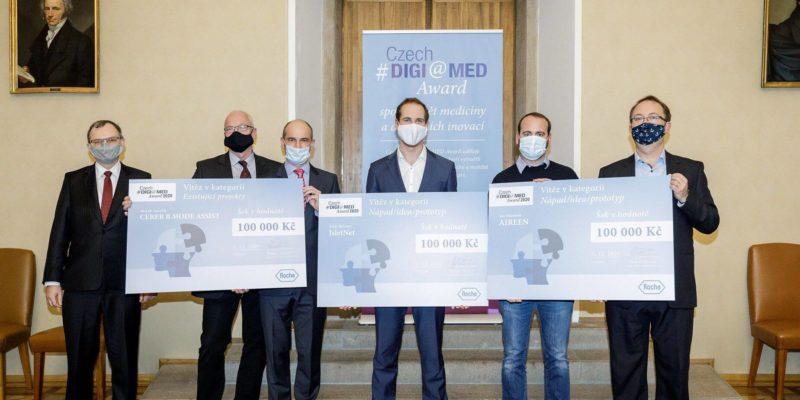 Roche ocenila vítěze druhého ročníku Czech DIGI@MED Award. Finanční ceny si odnesly projekty Aireen, IsletNet a Cereb B-Mode Assist